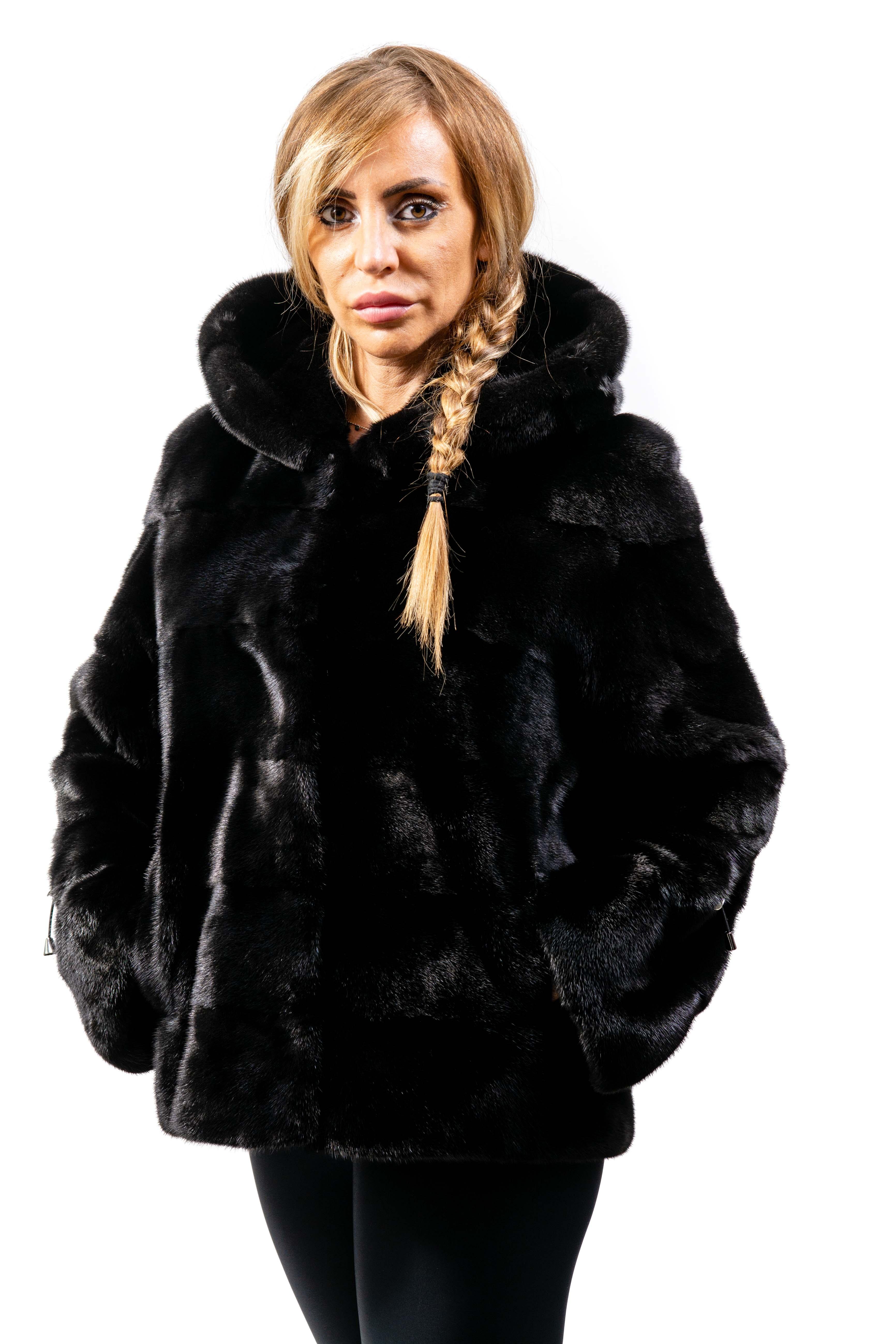giacca donna visone e renna
